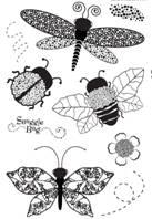 Witeria dragonfly big stamp