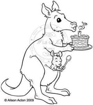 Mina celebrating kangaroo
