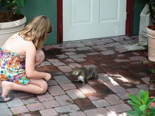 Esme and squirrel