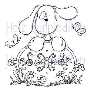 HC000 Ruffles Puppy Plaque