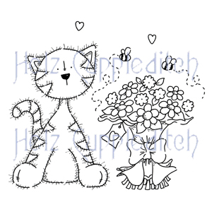 CARAC0609 Coco Cat Flowers